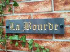 Engraved slate house name sign address plaque 300 x 75 11.8 inches x 3 inches